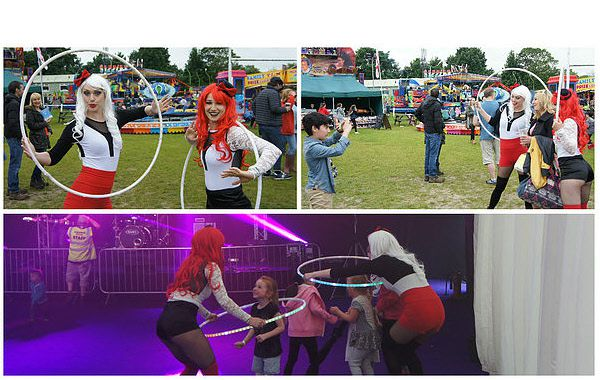 Hoola hoopers for shows, walkabout and workshops