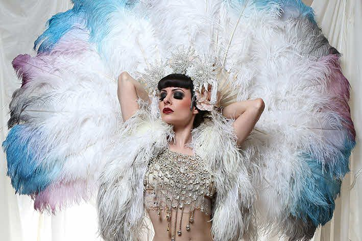 Burlesque artist Talulah Blue for cabaret and adult audiences